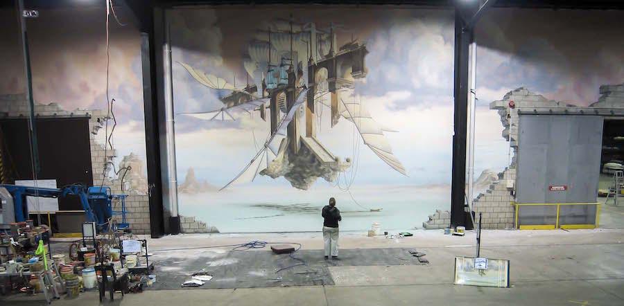 Murals, Trompe L\'oeil – Jenny McCracken.